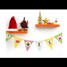 페이퍼크리스마스삼각배너 (그림)