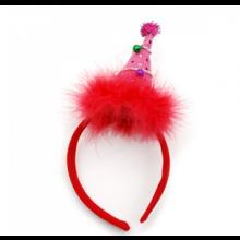 크리스마스고깔머리띠(핑크) ★ 크리스마스 파티의상소품 머리띠 고깔모양