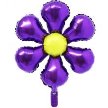 은박꽃풍선50센티 퍼플 꽃모양 은박 호일 장식