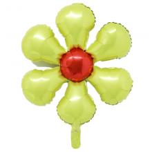 은박꽃풍선50센티 옐로우 꽃모양 은박 호일 장식