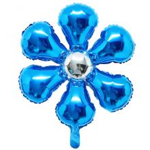 은박꽃풍선50센티 사파이어블루 꽃모양 은박 호일 장식