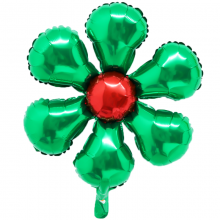 은박꽃풍선50센티 그린 꽃모양 은박 호일 장식