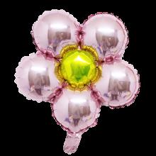 은박꽃풍선30센티 핑크 레드 꽃모양 은박 호일 장식