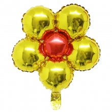 은박꽃풍선30센티 골드 꽃모양 은박 호일 장식