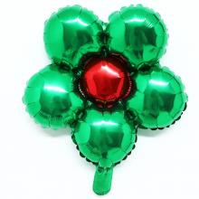 은박꽃풍선30센티 그린 꽃모양 은박 호일 장식