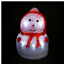 엘이디눈사람인형(레드) ★ 크리스마스 장식 불빛 눈사람장식 램프인형