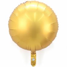 18인치원형사틴럭스골드 은박 헬륨 파티 호일 풍선