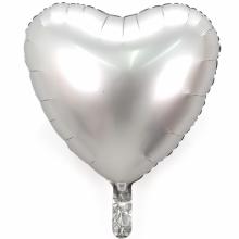 18인치하트사틴럭스플래티늄 은박 헬륨 호일 파티풍선