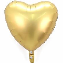 18인치하트사틴럭스골드 은박 헬륨 파티 호일 풍선