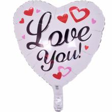 18인치러브유블랙 사랑 사랑 호일 은박 헬륨 풍선
