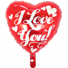 18인치러브화이트스크립 사랑 호일 은박 헬륨 풍선