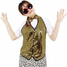반짝이조끼 골드 성인 아동 반짝이옷 무대 파티의상