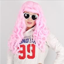 웨이브롱가발(핑크)