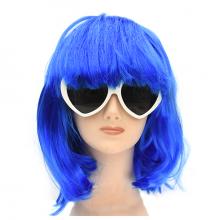 단발머리가발(블루)