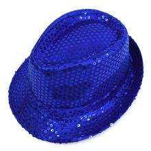 스팡클신사모자(블루) 반짝이 무대진행 파티 장기
