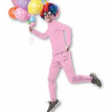 성인쫄쫄이의상대여 반바지세트 (핑크) 스판 전신타이즈