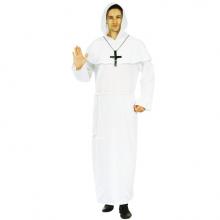 수도사의상성인화이트 할로윈 성인의상 수도사복