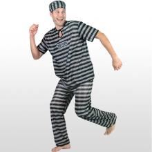죄수복의상성인 할로윈데이 파티의상 죄수복 감옥탈출 성인용