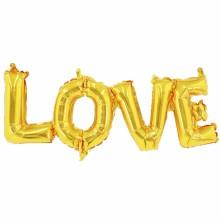 아나그램 라지쉐잎 러브 골드 이니셜풍선 LOVE 알파벳 은박풍선