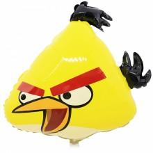 국산 라지쉐입 앵그리버드(노랑) 은박 호일 캐릭터풍선