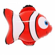 국산 라지쉐입 니모(빨강) 은박 호일 물고기풍선