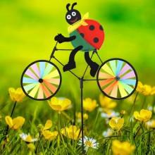 정원용바람개비 자전거타는무당벌레 어린이집꾸미기 캠핑바람개비 정원장식
