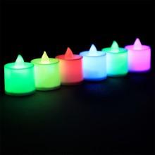 LED촛불 티라이트캔들 일반형레인보우(24개입) 전기초 전자초 엘이디초 프로포즈 이벤트용품