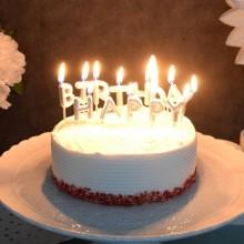 생일캔들 [HAPPY BIRTHDAY] 메탈릭실버