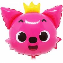 국산 라지쉐잎 핑크퐁 여우 은박호일 캐릭터풍선