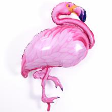 라지쉐잎플라밍고비치 은박 헬륨 호일 풍선 홍학 장식