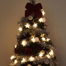 60전구입체별투명선웜 크리스마스 별장식조명