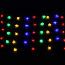 90전구디테일설정투명선칼라 크리스마스 설정 눈꽃 전구 장식 조명 인테리어