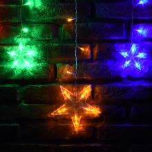 123전구별줄줄이투명칼라 크리스마스 별 전구 장식 조명 인테리어