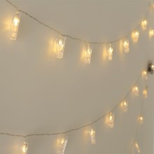 LED집게전구(30구웜) 크리스마스 장식 인테리어 조명