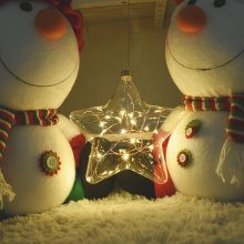 LED입체별(웜) 크리스마스 인테리어 스타 조명 소품