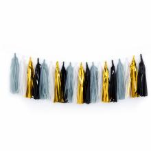 태슬가랜드세트 블랙톤 생일파티 DIY 종이 장식