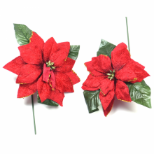 벨벳포인(중)2입 크리스마스 트리 꽃 장식 소품 데코