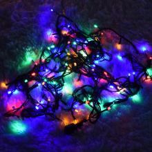 LED100P공사용검정선칼라 크리스마스 조명 장식 전구