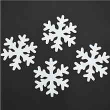 젤설정110파이(4개입)화이트 눈결정모양 크리스마스 창문 벽 장식소품 유리