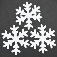 젤설정140파이(3개입)화이트 눈결정모양 크리스마스 창문 벽 장식소품 유리
