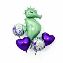 부케(Bouquet) 머메이드해마 헬륨호일풍선세트