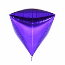 다이아(Diamondz) 퍼플 헬륨 호일 다이아몬드 풍선