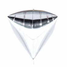 다이아(Diamondz) 실버 헬륨 호일 다이아몬드 풍선
