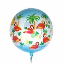 오브(Orbz)렛츠플라밍고 은박 헬륨 호일 원형 풍선