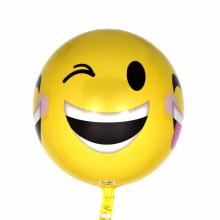 오브(Orbz)윙크이모티콘 은박 헬륨 호일 원형 풍선