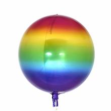 오브(Orbz)레인보우 은박 헬륨 호일 원형 풍선 장식