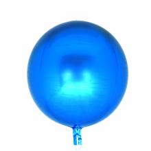 오브(Orbz)블루 은박 헬륨 호일 원형 풍선 장식