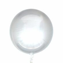 오브(Orbz)실버 은박 헬륨 호일 원형 풍선 장식