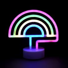 LED네온무드등(4색)레인보우 네온등 인테리어 조명 캠핑장식 취침등