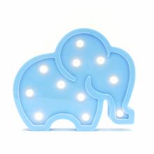 LED무드등[코끼리L블루] 북유럽 마퀴라이트 취침등 코끼리조명